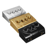 Professional Mini Karaoke Audio Mixer Dual Mic Inputs with Cable for Stage Home KTV
