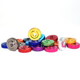 Suleve M4AN4 10Pcs M4 Knurled Thumb Nut w/ Collar Screw Spacer Washer Aluminum Alloy Multicolor