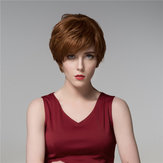 14 Colors Short Cool Side Bang Human Hair Wig Virgin Remy Mono Top Capless