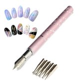 5 Heads Gel Flower Nail Art Design Pen Painting Drawing Set Salon Manicure DIY Tools