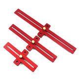 Aluminium170/270/370mmSchaalMeet Scribing Ruler Houtbewerking T-type Gat Heerser Markering Tool