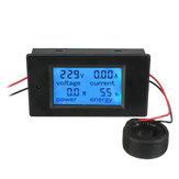 Original AC 80-260V 100A Amperaje de tensión de corriente digital LCD Medidor de potencia Medidor de prueba de amperaje de voltios de CC Monitor Medidor de energía de potencia Voltímetro de amperímetro