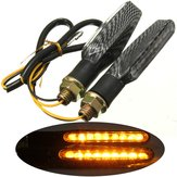 2pcs 9 LED 12V moto clignotants lumières orange lampe universelle