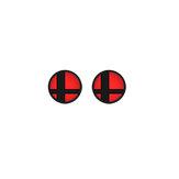 2pcs anti-slip silicone bascule capuchon joystick cache-bouchon pour Nintendo Switch ns console de jeu rouge