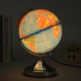Electronic Illuminated Blue Ocean World Earth Globe Rotating Night Light Desktop Decoration