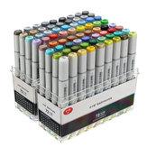 72 kleuren markering pen ontwerp verf schets markers tekenen oplosbare pen cartoon graffiti kunstmarkeringen pen
