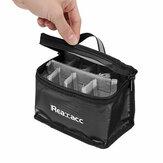 Mise à Jour Realacc Ignifuge Imperméable Lipo Batterie Sac de Sécurité (155x115x90mm) avec Poignée Lumineuse