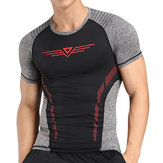 Summer Mens Elastic Training Quick Drying Sport T-shirt