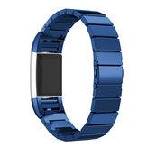 Correa de pulsera de reemplazo para Fitbit Charge 2 Tracker de acero inoxidable