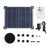 Original DC40Q-1702 Solar Kit de fuente de alimentación Solar Panel Garden Solar Fuente de agua de fuente flotante Bomba de agua