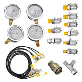 Original 10/25/40/60mpa Hydraulic Pressure Guage Test Kit with 4pcs Oil Gauge Test Hose