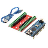 NANO IO Shield Expansion Board + Nano V3 Improved Version With Cable For Arduino