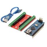 Nano io tarjeta de expansión escudo + v3 nano mejorada versión con cable para arduino