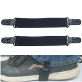 2Pcs Elastic Motorcycle Biker Trouser Ends Boot Straps Clips