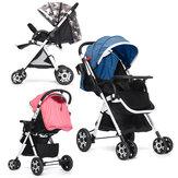 Adjustable Baby Pushchair Stroller Foldable Buggy Lightweight Jogger Travel Car