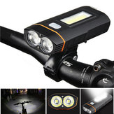 XANES DL04 1000LM Dual T6 German Standard Bicycle Light COB Front Light 150° Floodlight Phone Charging Power Bank