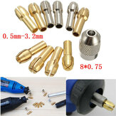 10pcs 0.5-3.2mm 4.3mm Shank Metal Drill Chuck Collet Bits Rotary Tool with Screw