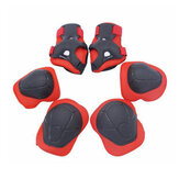 Original BIKIGHT 6pcs/set Children Sports Protective Gear Safety Knee Elbow Palm Guards Equipment For Bike Cycling