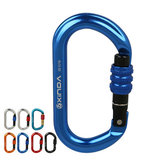 XINDA XD8122N Climbing Super Strength Steel Screw Main Lock Protection Climbing Hiking Carabiner