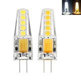 G4 2W 2835 Dimmable 10 LEDs Warm White  White LED Decorative Light Bulb AC12V
