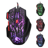 HXSJ H300 Fire Bird 7D 5500 DPI Colorful Backlight Wired Optical Gaming Mouse
