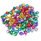 100PCS Mixed Color Iron Christmas Jingle Bells 8x6mm For DIY Party Decorative Accessories