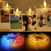 1.5M 10 LED Hanging Fairy String Light Photo Peg Clips Boda Party Decor Warm White Colorful Lámpara