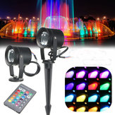16Colors 10W Waterproof LED RGB Flood Spot Lawn Light Spot Lightt Bulb AC85-265V+Remote