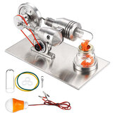 STEM Stainless Mini Hot Air Stirling Engine Motor Model Educational Toy Kits