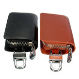 Genuine Leather Car Auto Keychain Keyring Key Holder Portable Bag Case Wallet