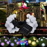 5m 20 LED boule de pissenlit solaire fête de noël décor extérieur fée chaîne lumière lampe