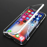 Bakeey Upgraded Version Plating Magnetic Adsorption Aluminum Tempered Glass Protective Case For iPhone X