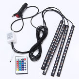 15 LED اللونful RGB Car Interior Floor Floor Atmosphere Strip ضوء التحكم عن بعد Decoration Lamp