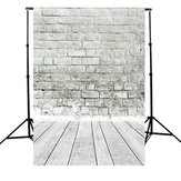 5x7ft White Gray Brick Wall floor Photography Background Backdrop Photo Studio