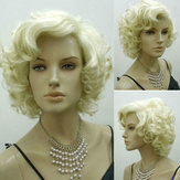 Original Rubia Marilyn Monroe Fashion Curly Peluca Cosplay Cabello Completa Pelucas Hot Style Short