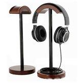 Original Soporte de madera maciza Pantalla Soporte Percha para auriculares de juego Bluetooth Auricular Auriculares