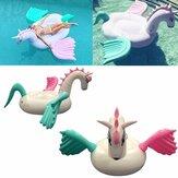 Original Gigante inflable Unicornio Pegaso flotante de natación Piscina Playa Juguete acuático de fiesta