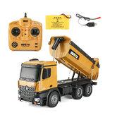HuiNa 1573 RC Car 1/14 Trucks Metal Bulldozer Charging RTR Truck Construction Vehicle Kids Toys