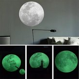 9CM luminescent fluorescent lights Moon Shape Wall Stickers Home Decoration