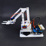 DIY 4DOF Arduino RC Robot Arm Educational Kit With SG90 Servos White