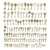Original 128 Unids vendimia Llave De Bronce Para Colgante Collar Pulsera DIY Accesorios Hechos A Mano Decoraciones