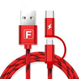 FANBIYA 2 in 1 Type-C Micro USB Fast Charging Cable 1M For OnePlus 5 S8 Xiaomi 6 Redmi Note 4
