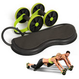 KALOAD Muscle Exercise Equipment Home Fitness Equipment Double Wheel Abdominal Wheel Roller