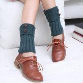 Boutonnière de bonneterie de bouton de femmes Chaussettes de dessus de crochet Chaussettes de jambières pour des chaussettes de botte