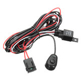 Wiring Harness Kit with Relay On-Off Control Switch 12V 40A 2M for LED DRL Daytime Running Light Bar