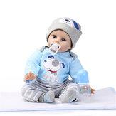 NPK DOLL 22'' Reborn Silicone Handmade Lifelike Baby Dolls Realistic Newborn Toy
