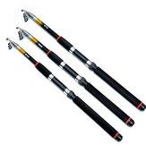 LEO 2.1M/2.4M/2.7M FluorescenceCast Highlights Telescopic Sea Fishing Rod Fishing Gear