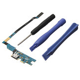 USB Charging Port Flex Cable With Mic + Repair Tools For Samsung Galaxy S4 I9505 REV19