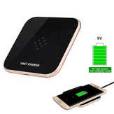 Aluminium Qi Wireless DC9V 1.8A Fast Charger For iPhone 7 Samsung Xiaomi Huawei