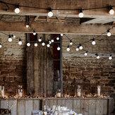 5M 10M Festive Lights Indoor Outdoor Festoon Bulb LED String Party Decor Light EU Plug